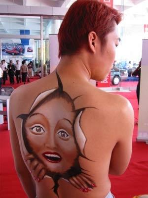 搞笑的人体彩绘