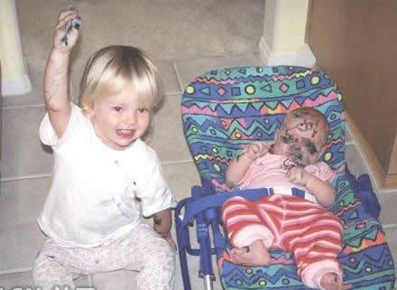 儿童搞笑图片第一次